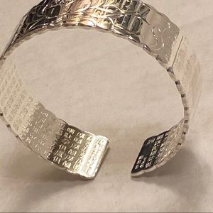 Jewelry - Silver Chinese inscription lotus bracelet